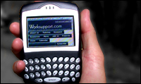 Blackberry showing Worksupport.com