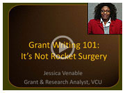 Video: Grant Writing 101: It's Not Rocket Surgery