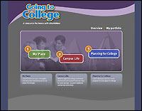 Going to College website screenshot
