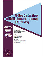 Workforce Retention, Absence and Disability Management: Summary of DMEC/VCU Survey