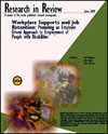 Workplace Supports and Job Retention Monograph