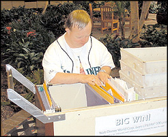 Medtronic employee sorting mail